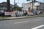 Fotos da manifestação dos aposentados