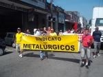 Aposentados metalúrgicos realizam passeata contra fusão Femco X Caixa Usiminas