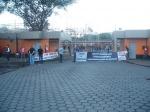 Fotos da assembleia na portaria da Usiminas dia 29/05