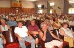 Fotos do ato dos aposentados
