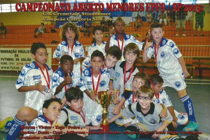 Fotos dos campeões do Campeonato Aberto Menores FPFS/SP