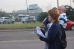 Fotos da panfletagem contra a PL 4330