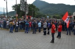 Fotos da assembleia na Usiminas contra as demissões
