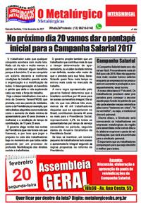 O Metalúrgico #454 (13/02/2017)
