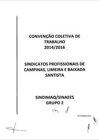 Convenção Coletiva de Trabalho 2014/2016 - SINDIMAQ e SINAEES
