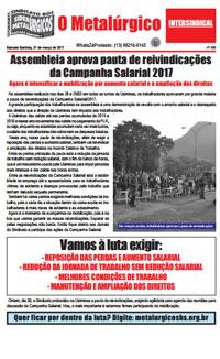 O Metalúrgico #460 (31/03/2017)