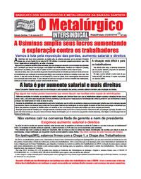 O Metalúrgico #466 (19/05/2017)