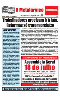 O Metalúrgico #473 (10/07/2017)