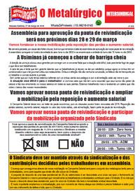 O Metalúrgico #510 (27/03/2018)