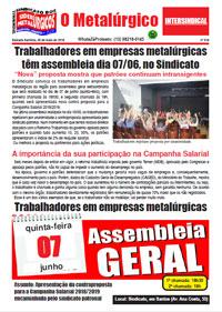 O Metalúrgico #518 (29/05/2018)