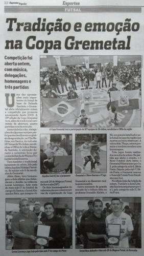 Copa Gremetal no jornal Expresso Popular