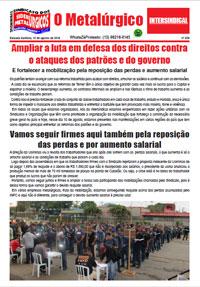 O Metalúrgico #529 (10/08/2018)