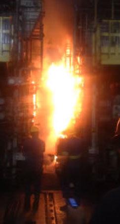 Incêndio provocado pelas péssimas condições de trabalho impostas pela Usiminas