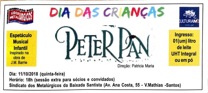 Dia da Crianças: Peter Pan