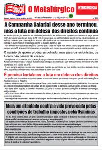 O Metalúrgico #538 (19/10/2018)