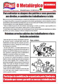 O Metalúrgico #545 (11/01/2019)