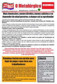 O Metalúrgico #546 (25/01/2019)