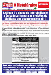O Metalúrgico #552 (08/03/2019)