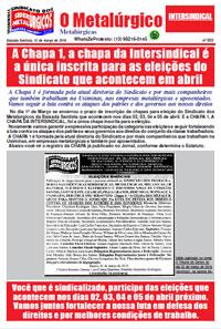 O Metalúrgico #553 (13/03/2019)