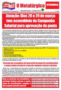 O Metalúrgico #554 (27/03/2019)