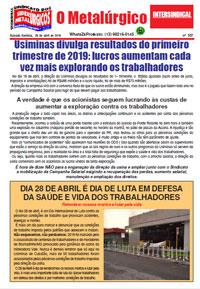 O Metalúrgico #557 (29/04/2019)