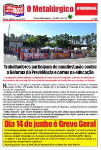 O Metalúrgico #560 (16/05/2019)
