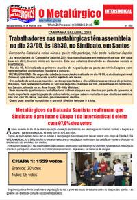 O Metalúrgico - metalúrgicas #558 (16/05/2019)