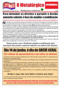 O Metalúrgico #564 (10/06/2019)