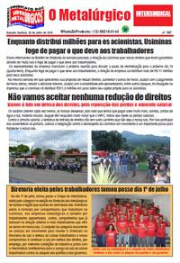 O Metalúrgico #567 (05/07/2019)