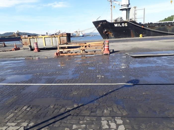 Mais riscos de acidente da área do porto