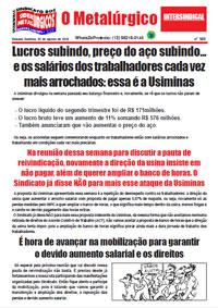O Metalúrgico #569 (02/08/2019)