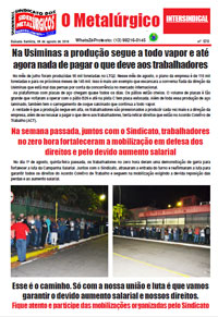 O Metalúrgico #570 (09/08/2019)
