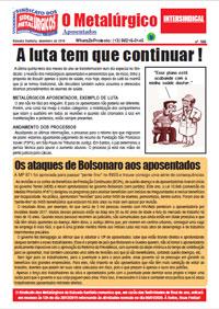 O Metalúrgico - Aposentados #586 (26/12/2019)