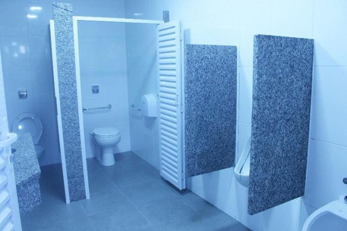 Reforma dos banheiros do Gremetal