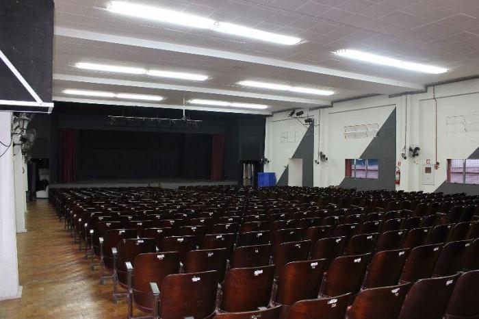 Nova iluminação do auditório