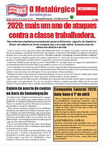 O Metalúrgico #588 (20/01/2020)