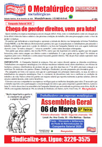 O Metalúrgico - Metalúrgicas #592 (28/02/2020)