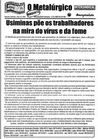 O Metalúrgico - URGENTE # (14/05/2020)
