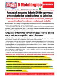 O Metalúrgico - Especial # (15/04/2021)