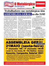 O Metalúrgico #628 (14/05/2021)