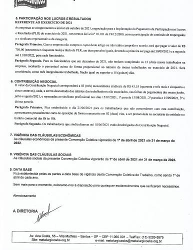 Acordo salarial abril 2021